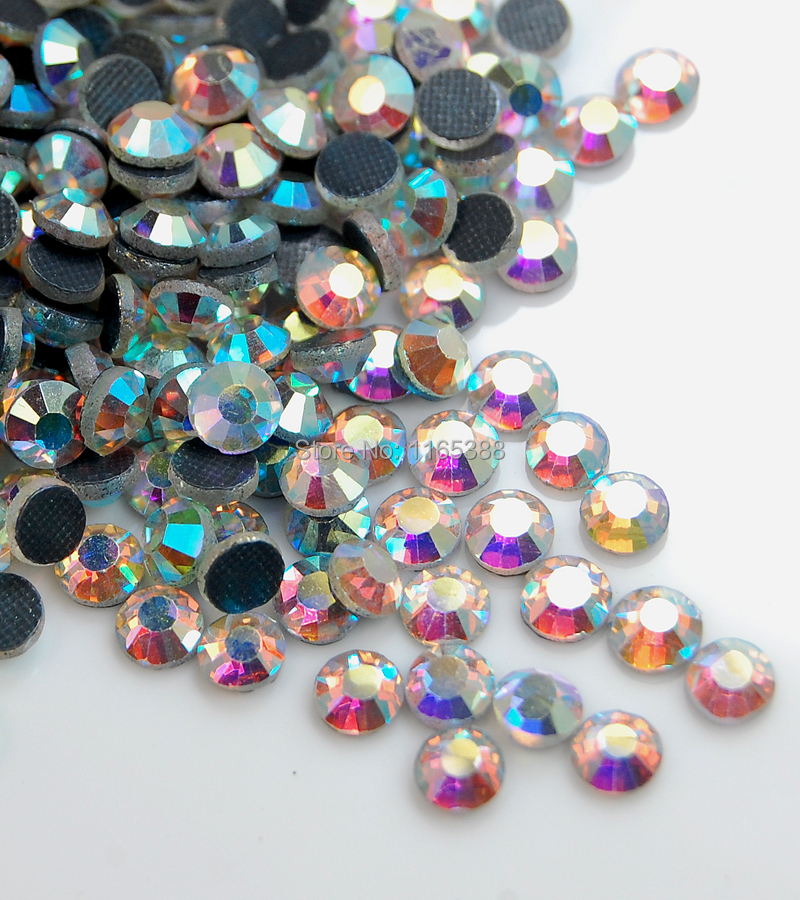 7220pcs/5Bags SS20 5mm Clear AB 201 50Gross Top Quality DMC Hot fix Crystal Round Rhinestones Iron Flat back Machine Cut(China (Mainland))