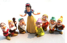 Hot sale Snow white and the Seven Dwarfs Action Figures Princess Doll Toys 8pcs/set 8-10CM Kids Gifts for Children