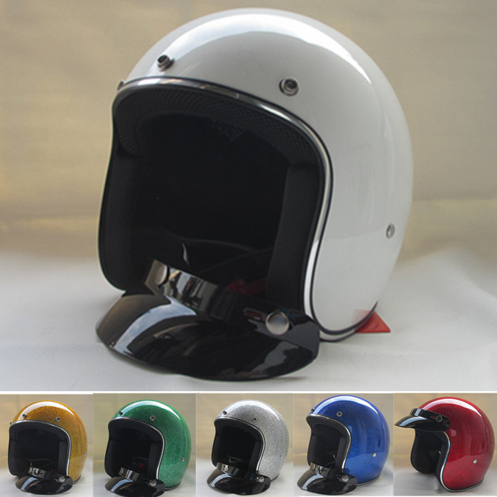 free shipping casco capacetes 3/4 open face men women vintage helmet jet retro scooter racing motorcycle helmets M L XL XXL SIZE(China (Mainland))