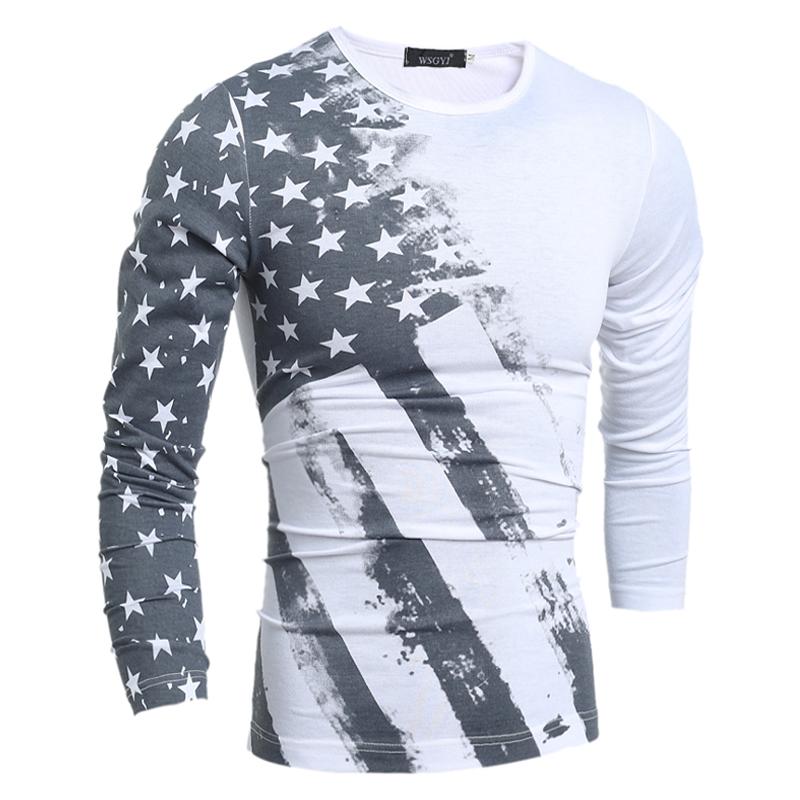 16 designs mens t shirt slim fit o neck t shirt men long for T shirt design sleeve print
