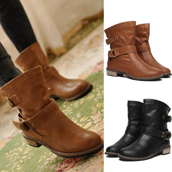 Brown Biker Boots Women
