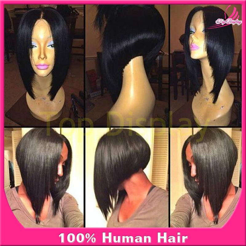 Short Brazilian Virgin Hair Wigs Lace Front Human Hair Wigs Bob Cut ...