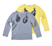 Retail Kids Boys long-sleeved T-shirt candy shirt Childrens coat children autumn clothes cartoon Headphones pattern Boys t-shirt