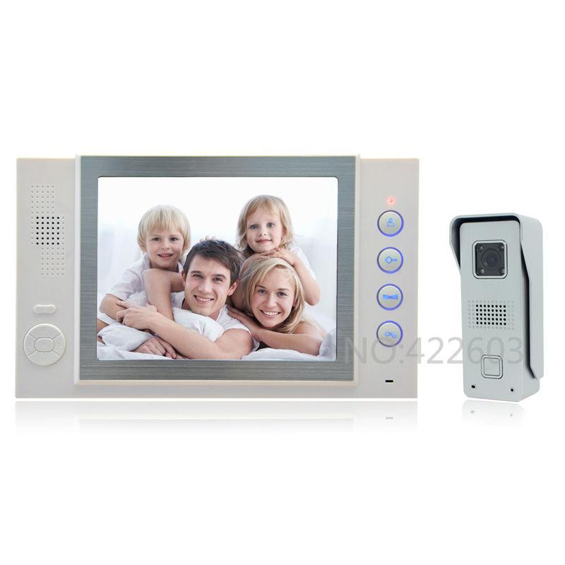 Luxury 8 inch video door phone intercom system video doorphone Speaker intercom video Monitor Recording photo taking function(China (Mainland))