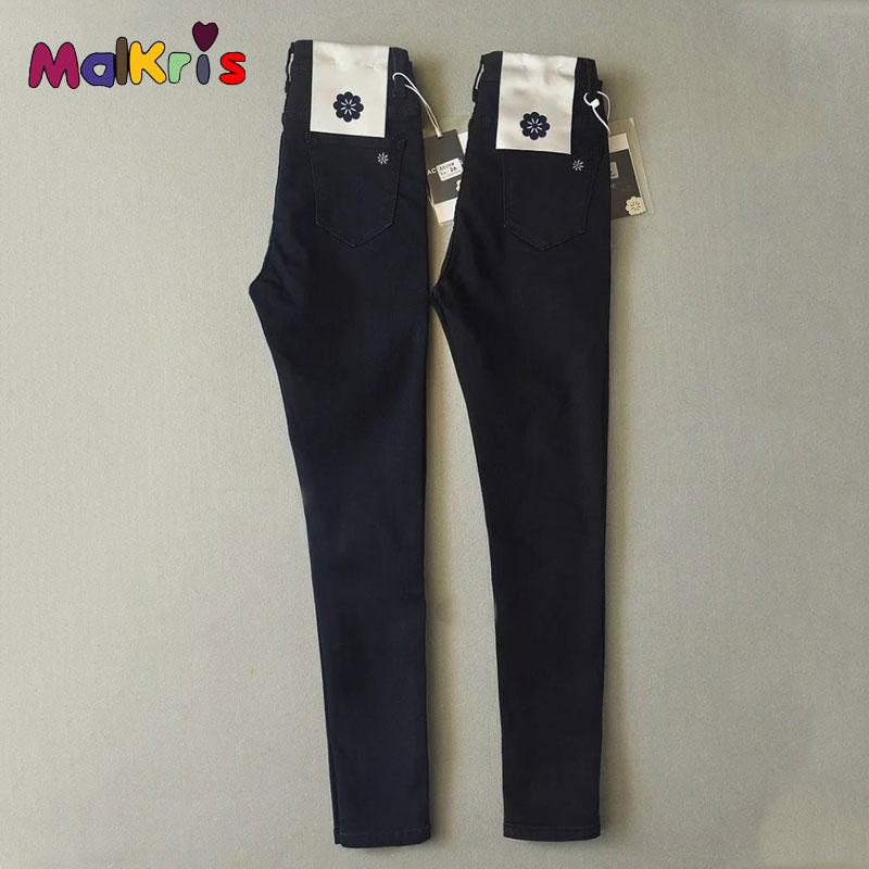 Vintag Black Jeans Women 2017 Spring High Waist Jeans Woman Big Elasticity Femme Jeans Female Feminino Pant Jean Women Denim