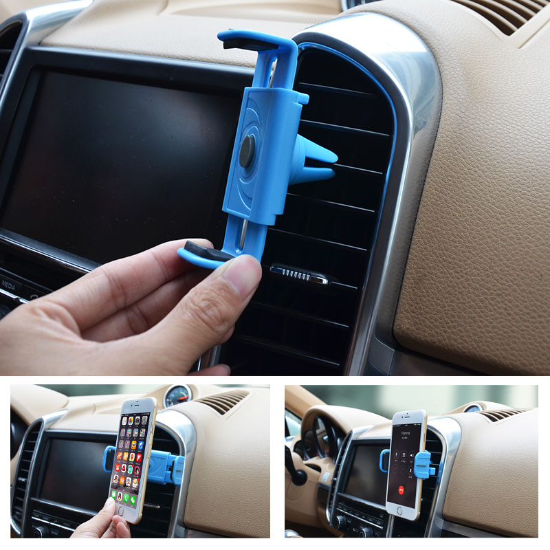 Universal car cellphone holder adjustable cell phone mount holder air vent support the iPhone 5s 6 6 plus 6s Samsung Galaxy(China (Mainland))