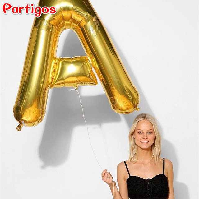 large size 40 inch gold alphabet a z 26 letters foil balloons wedding birthday event