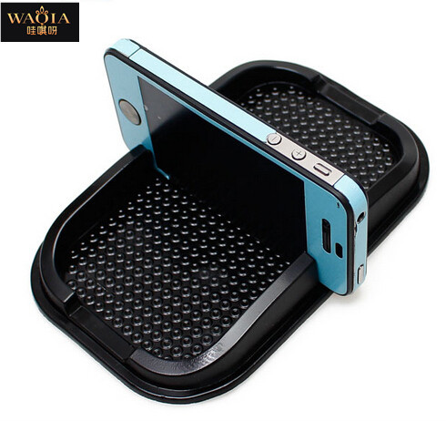 WAQIA 2015 New Black Car Dashboard Sticky Pad Mat Anti Non Slip Gadget Mobile Phone GPS Holder Interior Items Accessories(China (Mainland))
