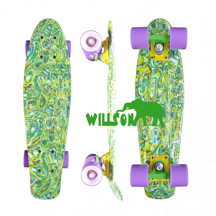 "2015 new printed cheap Penny Board Penny Skateboard pink green Complete 22"" Mini Longboard Boy Girl Retro Cruiser Skateboard(China (Mainland))"