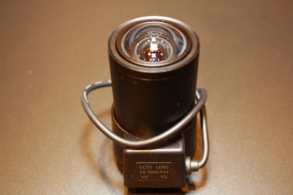 2.8-12mm DC Auto Iris CCTV Zoom Lens for Security Cameras f/1.4 Aperture(China (Mainland))