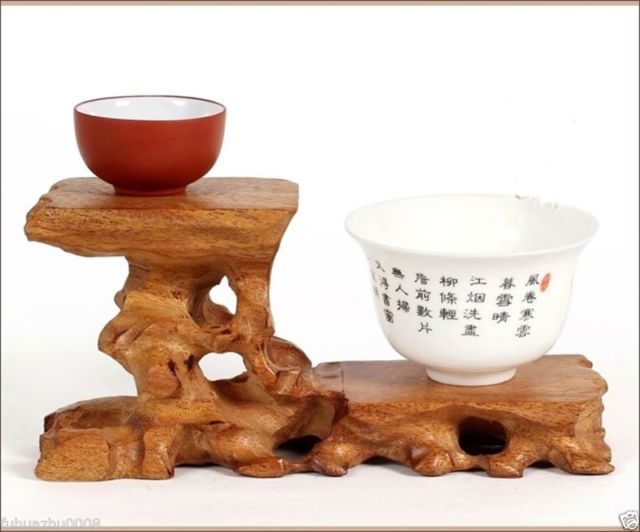 Hard Wood Crafted 2 Tiers High Low Display Stand For Teapot Cup Figurine Etc...(China (Mainland))