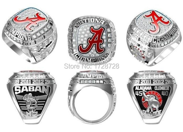 2015 Alabama Crimson Tide NCAA Football National Championship rings Sport Fans Ring solid Men Christmas Gift high quality(China (Mainland))