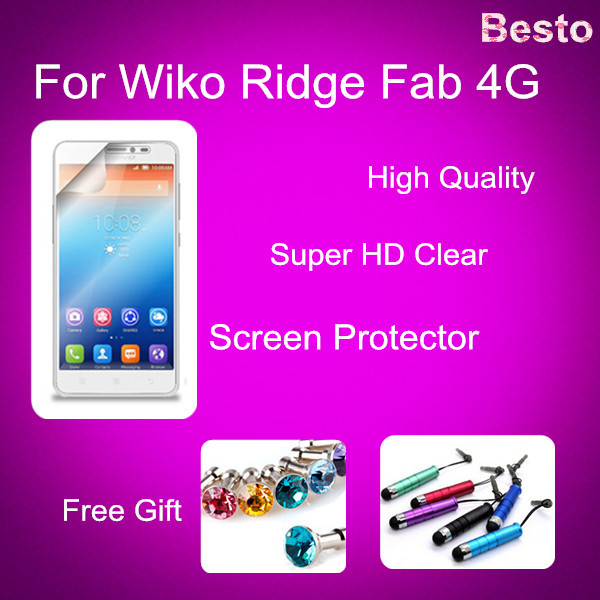 Screen Protector For Wiko Ridge Fab 4G Screen Protector 100% Brand New China Factory Mobile Phone accessory 20150928(China (Mainland))