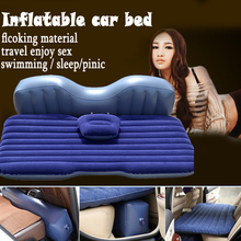 good quality Offroad Travel Inflatable car bed with pillow Inflatable seat outdoor sofa thicken outdoor mattress car mattress(China (Mainland))