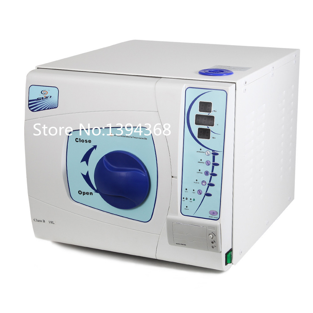 Free Shipping 18L Dental Sterilizer Medical Surgical Autoclave Vacuum Steam Datal Printing(China (Mainland))