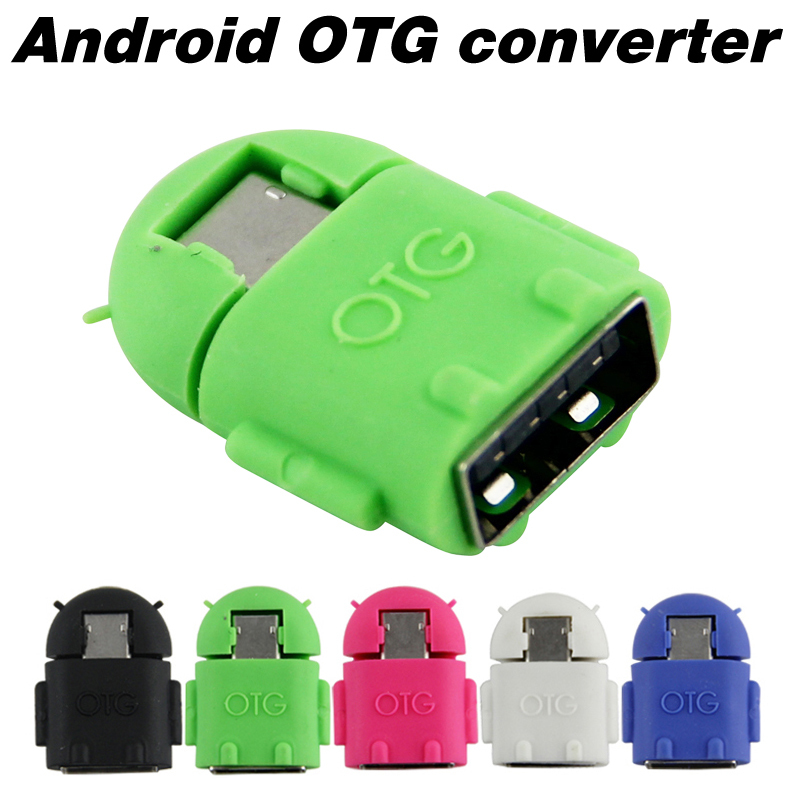 Android Robot Shape Micro Mini USB OTG Adapter Cable For Tablet PC MP3/MP4 smart Phone Free shipping(China (Mainland))