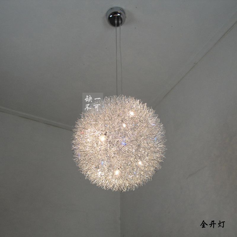Led aluminum wire ball pendant light modern brief crystal lamp lighting lamps y(China (Mainland))