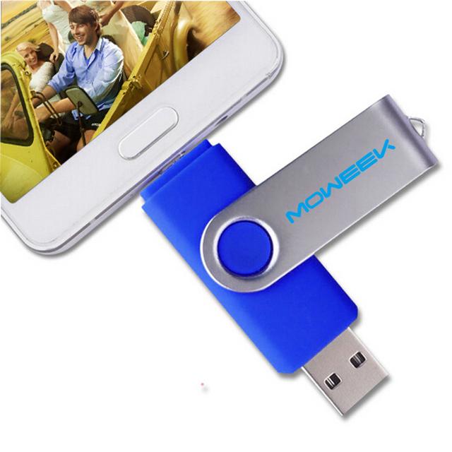 MOWEEK M30 OTG  usb flash drive pen drive 32gb 4gb 8gb 16gb double smartphone stick pendrive  Full capacity