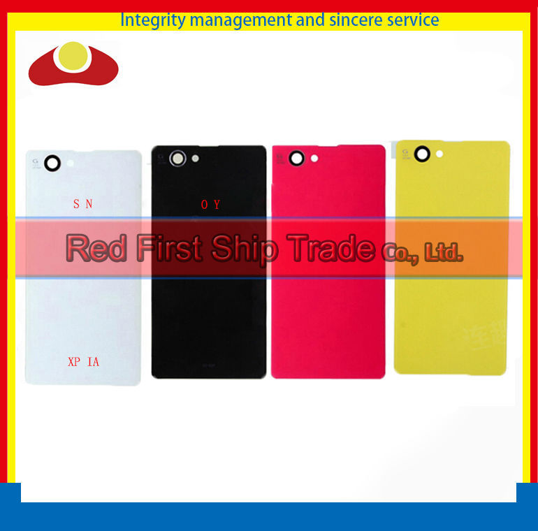100pcs DHL EMS For Sony Xperia Z1 Compact Z1 Mini D5503 M51w Back Housing Rear Cover Case Battery Door White Black Yellow Red
