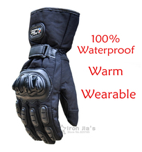 Motorcycle Gloves Winter Warm Waterproof Windproof Protective Gloves 100% Waterproof  Guantes Luvas(China (Mainland))