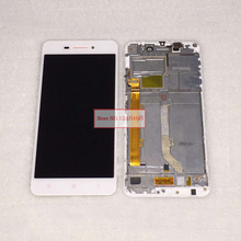 100% Warranty Black / White LCD Display With Touch Screen Digitizer Assembly + Frame For Lenovo S60 S60W cellphone Replacement