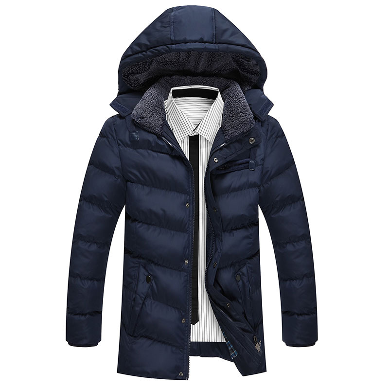 Winter Brand Men's Casual Fur Collar Thick Down Jacket Men Long Hooded Parkas Coat Outerwear Jaqueta Masculina Plus Size 6868(China (Mainland))