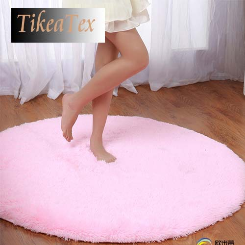 80*80cm 4.5cm Thicken Shaggy Round Carpet Pink Rug tapete Carpets for Bedroom Living Room Custom Floor Mats(China (Mainland))
