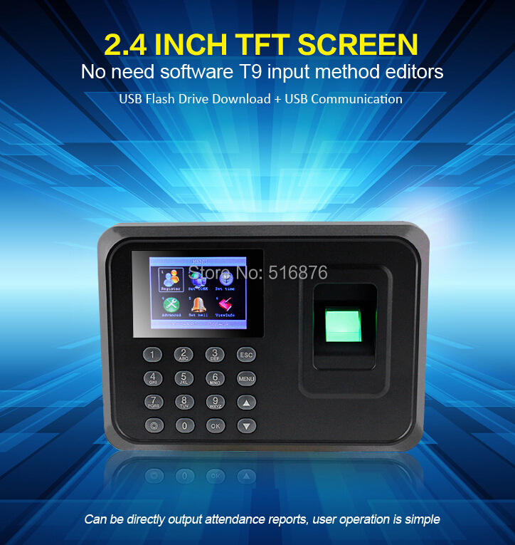 Free Shipping Biometric Fingerprint Time Attendance Time Clock Recorder Employee Digital Electronic Attendance Machine<br><br>Aliexpress