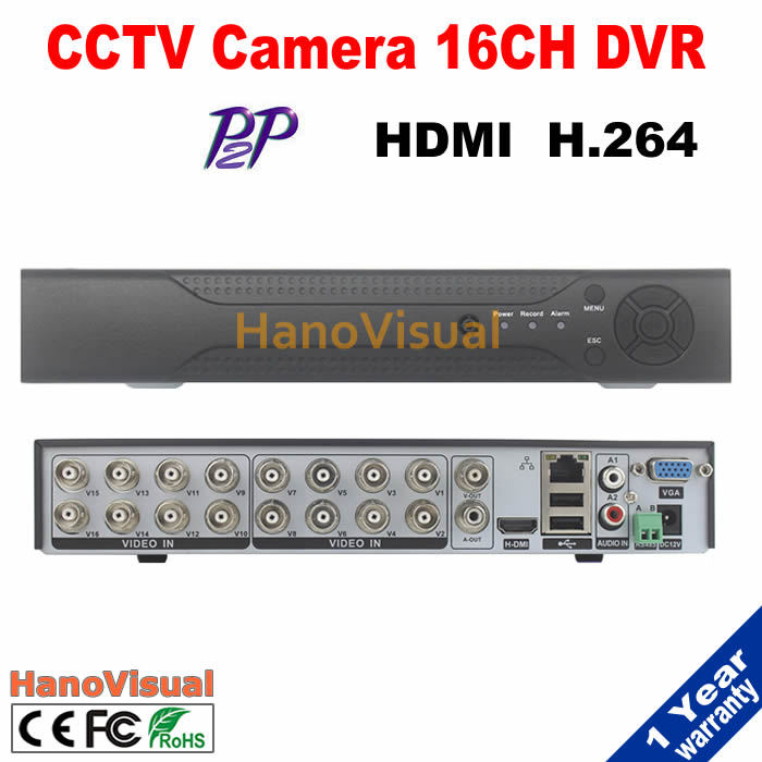 Free Shipping 16CH DVR For CCTV Camera Support iPhone Android PTZ RS485 Remote View P2P 16 channel CIF HDMI H.264 Motion Detect <br><br>Aliexpress
