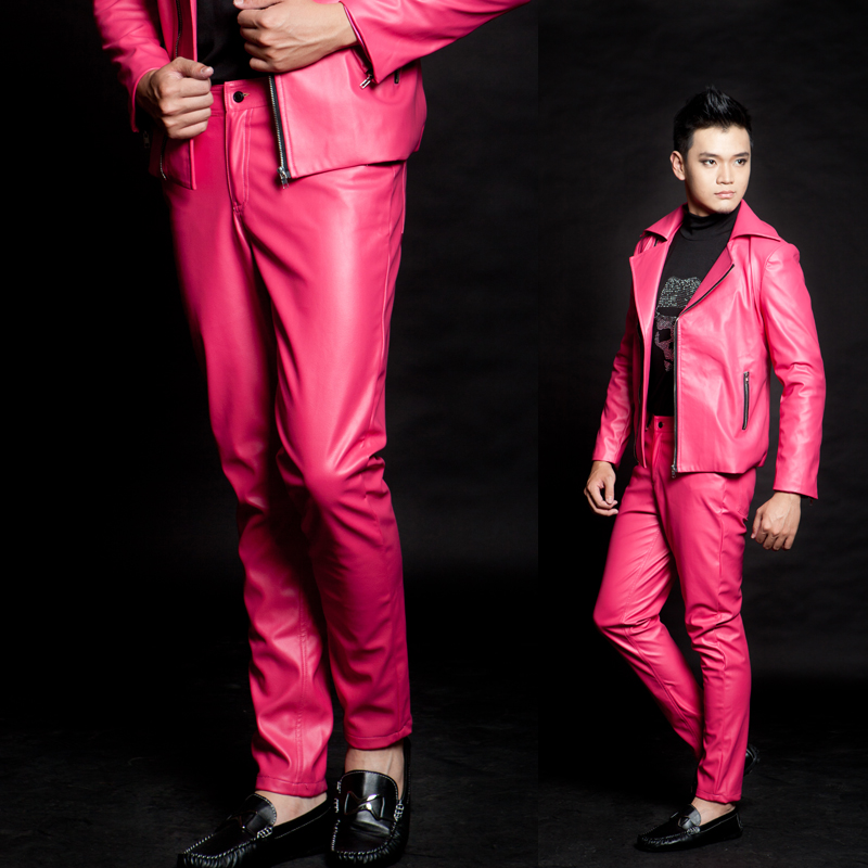 Popular pink leather pants buy cheap pink leather pants lots from china pink leather pants Style me pink fashion show