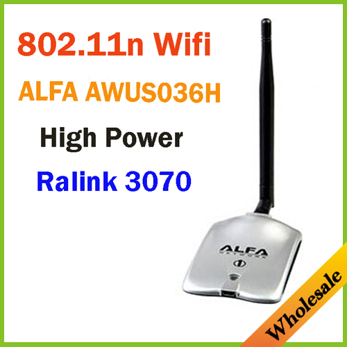 New 2014 High Power ALFA AWUS036H 1000MW WIFI Wireless USB Network Adapter 5DB Antenna with Realtek3070L,Wholesale Dropshipping(China (Mainland))