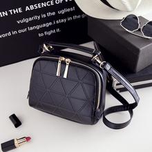 Crossbody bag 2016 plaid small female shoulder messenger tote bag handbag for short sport leisure time more colors