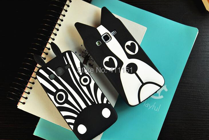 Cute Cartoon Zebra Dog Soft Silicone Rubber Back Case Samsung galaxy core plus g3500 G3502 - ALEX ZHOU Store store