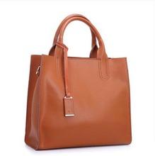 Brand women bag 2015 new fashion women handbags Genuine leather bag women shoulder handbag