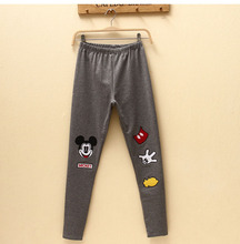 2015 Women's Summer Pencil Pants Girls' Cartoon Character Printed Midweight Capris Stretched Autumn Euro Style Leggins(China (Mainland))