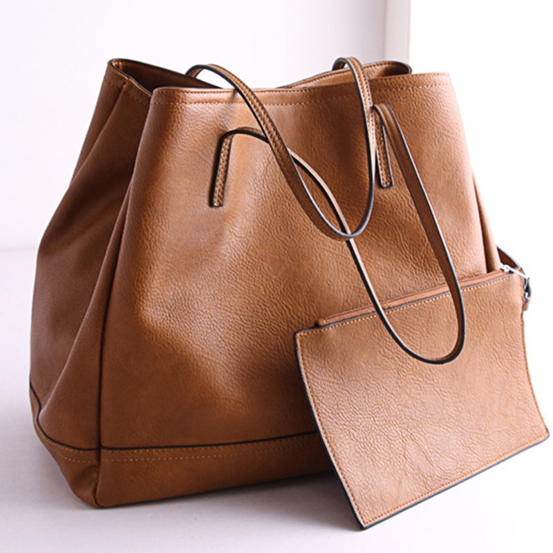 Fashion OEM Small(20-30cm) Soft Solid Genuine Leather Casual Tote Handbag Smiley Type Bat Single Bag Interior Zipper Pocket 2016<br><br>Aliexpress