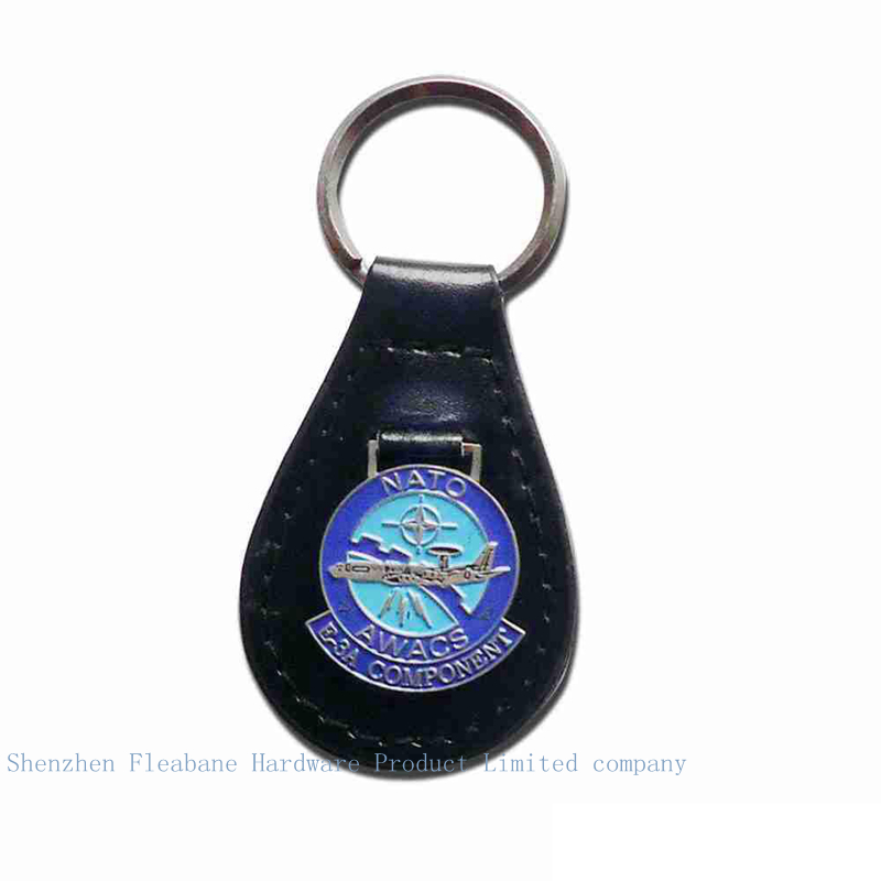 client customize real cowhide metal key chain advertising gifts company logo key ring souvenir Crafts(China (Mainland))