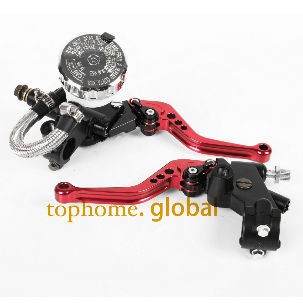 7/8 Front Brake Master Cylinder&amp;Clutch Brake Levers with Adjustable Fluid Reservoir For Honda VTX1300 2003-2004 2005 2006-2008<br><br>Aliexpress