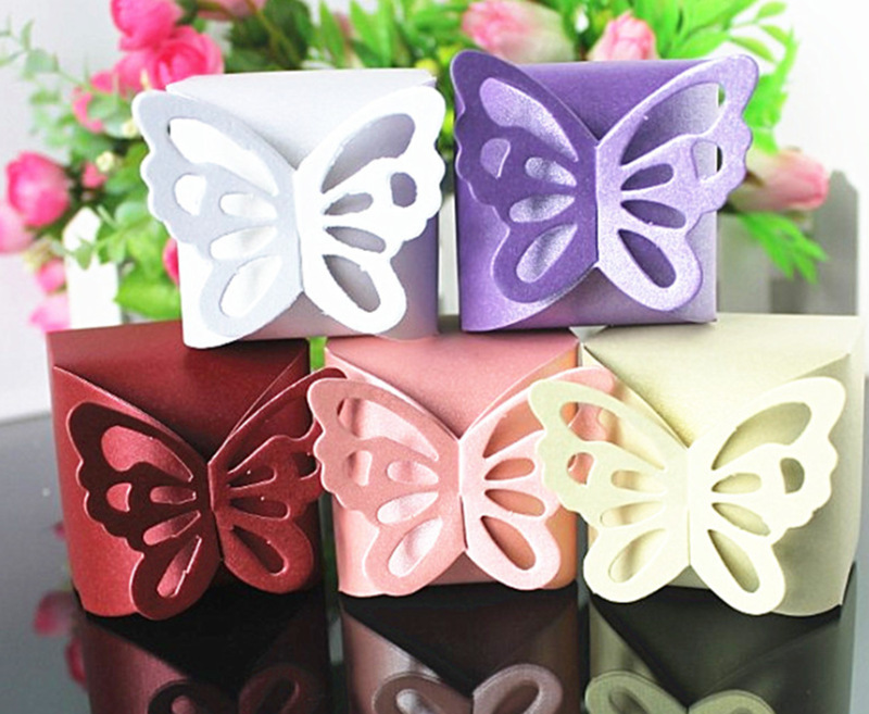 10pcs Butterfly Party Wedding Favor Gift Candy Bomboniere Boxes Baby Shower SH(China (Mainland))