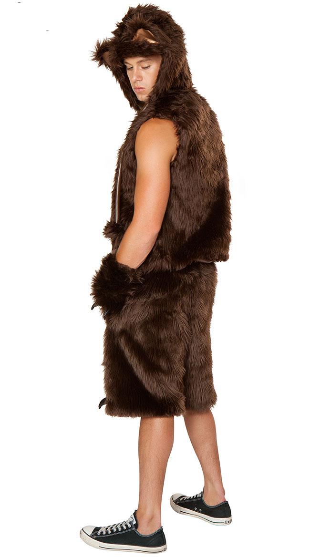 Bear Halloween Costume Men Bear Sexy Fur Costume Men