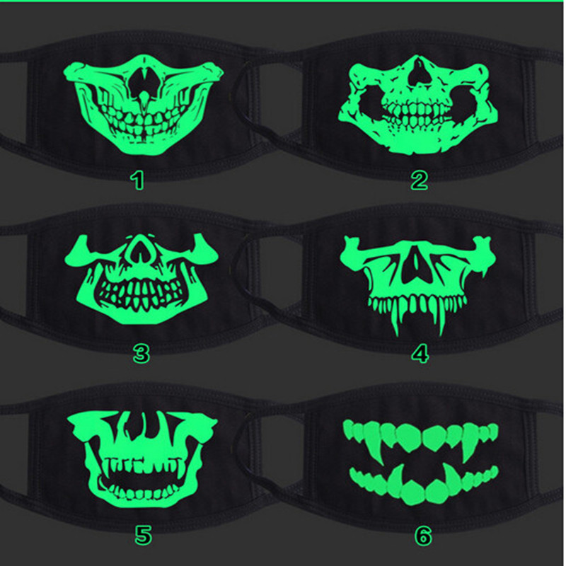 COOL luminous skull mask toy,Night Lights wild mouth-muffle,novel gift friends fashion anime fans party wearing 2017 girls boys