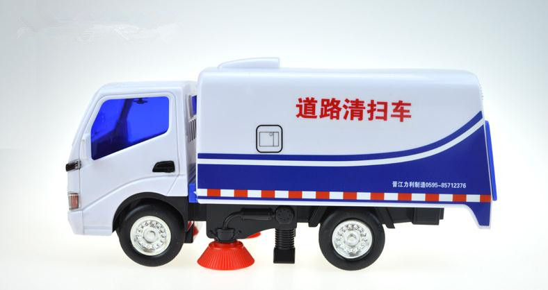 1:50 plastic car models, high simulation road sweeper, sliding toys, children's educational toys, free shipping(China (Mainland))