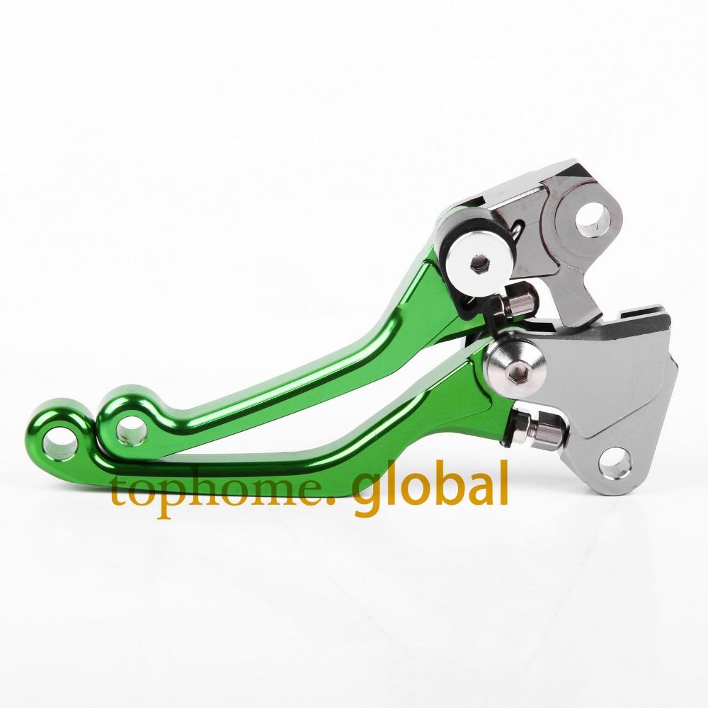 Hot One Pair CNC Pivot Dirttbike Brake Clutch Levers Green Color For Kawasaki KX250F 2013 2014<br><br>Aliexpress