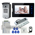 7 Touch Screen Video Door Phone Intercom 1 Monitor Waterproof RFID Access Camera 180kg Electric Magnetic