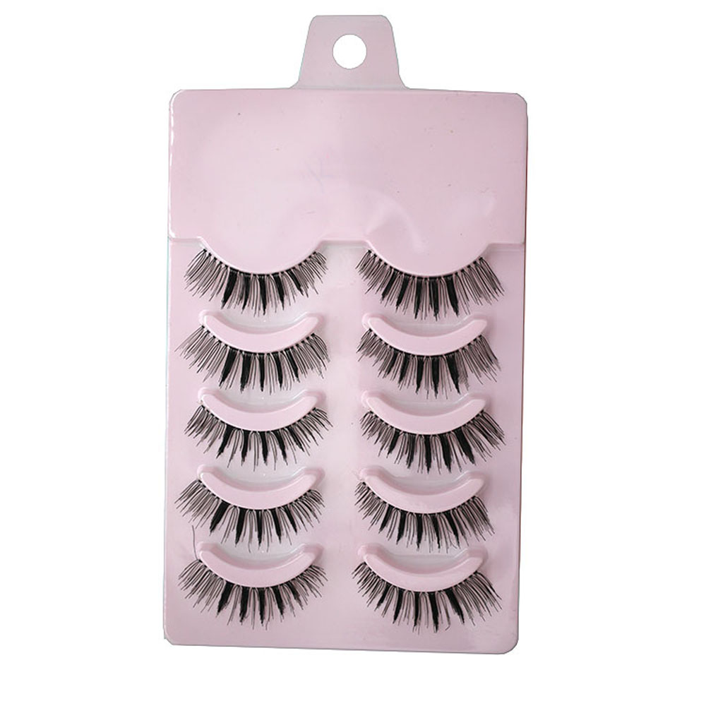 Newest 5 Pairs False Eyelashes Handmade Long Thick Natural Fake Eye Lashes Black Beauty Heath False Eyelashes Hand Made(China (Mainland))