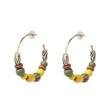FASHIONSNOOPS Fashion Women Natural Stone Drop Dangle Earrings For Wedding Bohemian Za Jewelry Party Statement Earring Wholesale(China)
