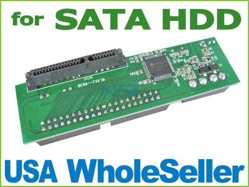 Ship From USA Free Shipping PATA IDE TO SATA Adapter Converter Card For 3.5 HDD DVD LK-13415