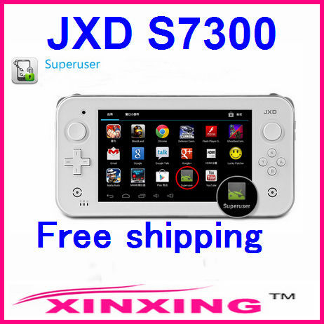 Factory price JXD S7300 7Inch dual Core Smart game console  two Joystick Dual core Android 4.1 game console Free shipping