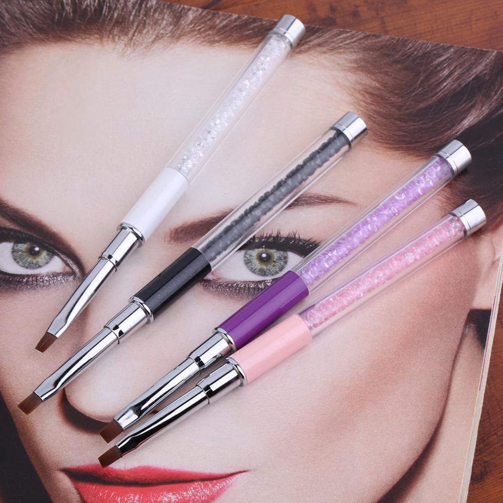 1Pc Nail Art Care Tools Crystal Gel Pen Brush Handle Nail Art Tool Pen Anti-slip handle, soft hair <br><br>Aliexpress