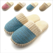 2014 Fashion New Popular Autumn and Winter Warm Men&Women Cotton-padded Lovers At Home Slippers Shoes Cotton Slippers(China (Mainland))